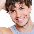 Smiling face of a beautiful man — Stock Photo