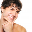 Happy man with clean-shaven face — Stock Photo