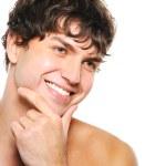 Счастливый человек с бритый лицом — Стоковое фото