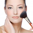 Woman face with natural make-up — Stock Photo