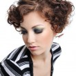 Modern curly hairstyle - Stock Photo