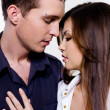 Portrait of beautiful sexual couple — Stock Photo #1504484