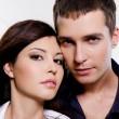 Portrait of beautiful sexual couple — Stock Photo