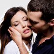 Portrait of beautiful sexual couple — Foto de stock #1504751