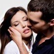 Foto Stock: Portrait of beautiful sexual couple