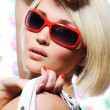 Glamour blond woman — Foto de Stock