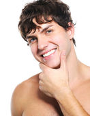Face of a man with health clean skin — Stock Photo