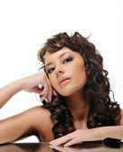 Beauty brunette woman — Stock Photo