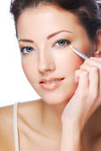 White cosmetic pencil - Eyeliner — Stock Photo