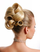 Moderne bruiloft hairstyle — Stockfoto