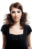 时尚发型的女人 — 图库照片