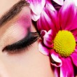 Sensuality pink make-up — Stock Photo