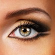Beauty golden-brown make-up — Stock Photo