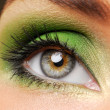 Stock Photo: Effective green make-up