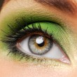 Effective green make-up — Stockfoto