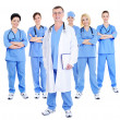 Happy successful team of doctors - Stock Photo