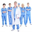 Happy successful team of doctors - 