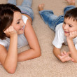 Mother and son look — Stock Photo #1519137