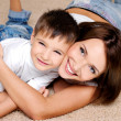 Mother and her  little boy - Foto Stock