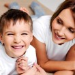 Boy with his pretty mother — Stock Photo