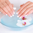 Spa treatment for female hands — Stock Photo