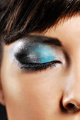 Beautiful fashion make-up — Stockfoto