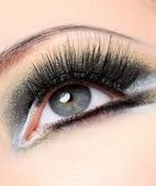 Long black eyelashes — Stock Photo