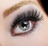 Beauty false eyelashes — Stock Photo