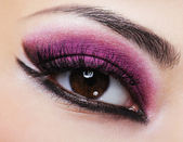 Purple bright make-up — Stock Photo