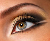Effective golden-brown make-up — Stock Photo