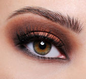 Brown eye make-up — Stock Photo