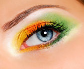 Multicolored Ceremonial make-up — Stock Photo