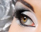 Fashion make-up of Woman eye — Stock Photo