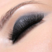 Luxuriant eyelashes — Stock Photo