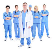 Happy successful team of doctors — Stock Photo
