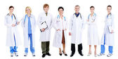Team of happy smiling doctors — Stock Photo