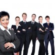 Business woman with workgroup. — Stock Photo #1520097