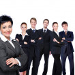 Stock Photo: Business woman with workgroup.