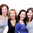 Four sexy, beautiful happy women — Foto Stock