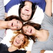 Group of happy girls - Stock Photo