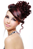 Pretty girl with creative hairstyle — Stock Photo