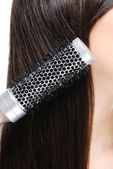 Combing hairs — Stock Photo