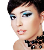 Bel viso con make-up moda. — Foto Stock