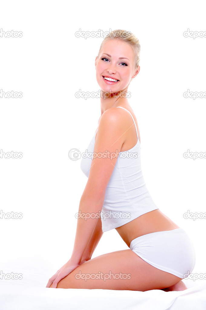 Beauty and graceful in the body of happy slender pretty woman  Stock Photo #1520170