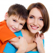 Appy cheerful mother with little son — Stock Photo #1538457