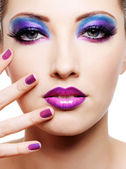 Female face with fashion make-up — Foto de Stock