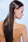 Female with wet long hairs — Stock Photo
