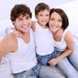 Happy parents with little child — Stock Photo