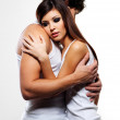Beautiful embracing lovers — Stock Photo