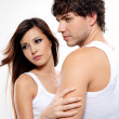 Two attractive lovers — Stock Photo #1548091